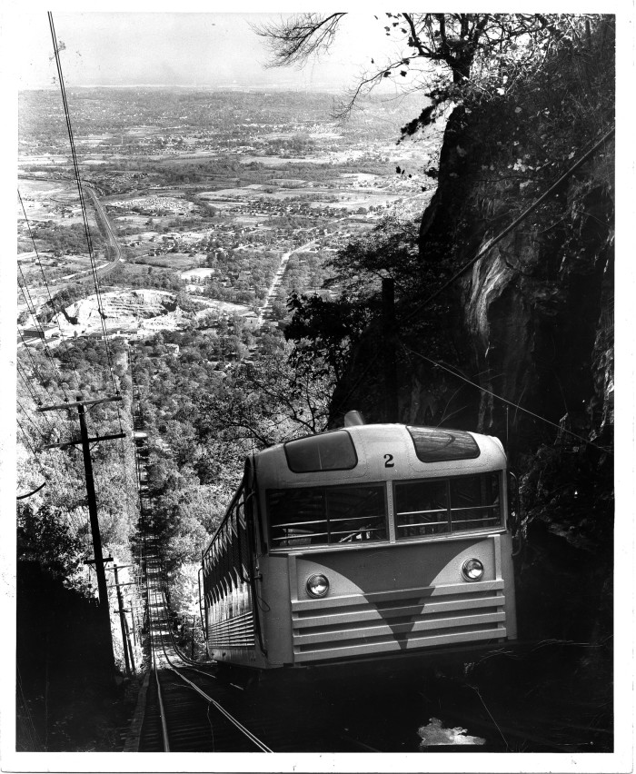 You can still ride the Lookout Mountain Incline, although this photo was taken in 1957.