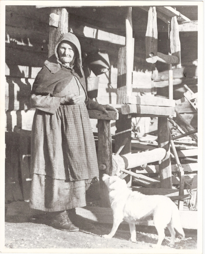 9) Mary Foust of Anderson County with her loom, a woman who supposedly lived close to 100 years old.