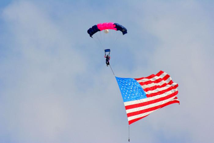 11)  Skydive