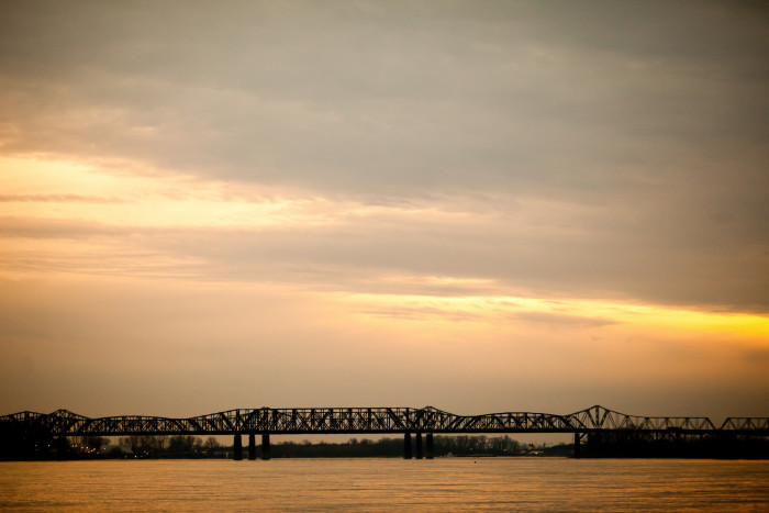 11) Memphis may be the city of blues, but that sunset is anything but.