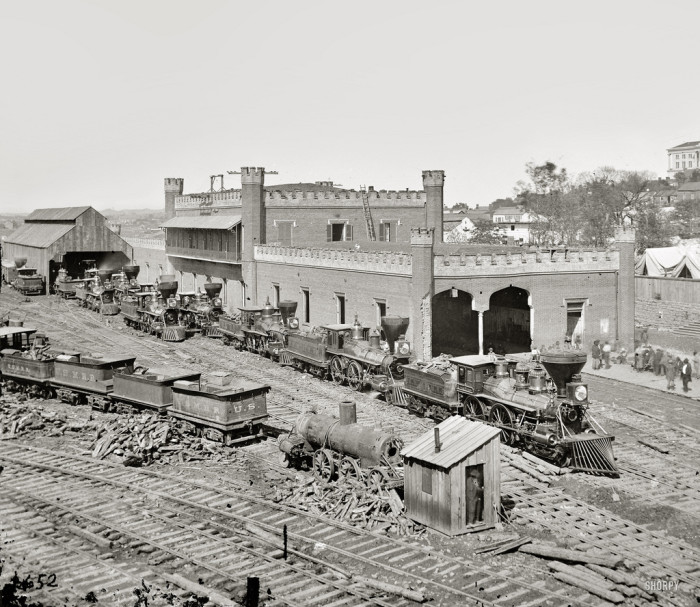 17) Take a look at the Nashville rail yard in 1864.