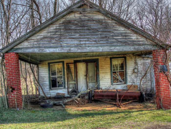 14. Reminders of the life that once filled this house in Callaway now fill the front yard.