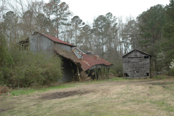 9. Old Train Buildings and Trestle (Smoaks, SC)