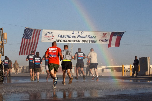 13.  Run in the Peachtree Race on the 4th of July.