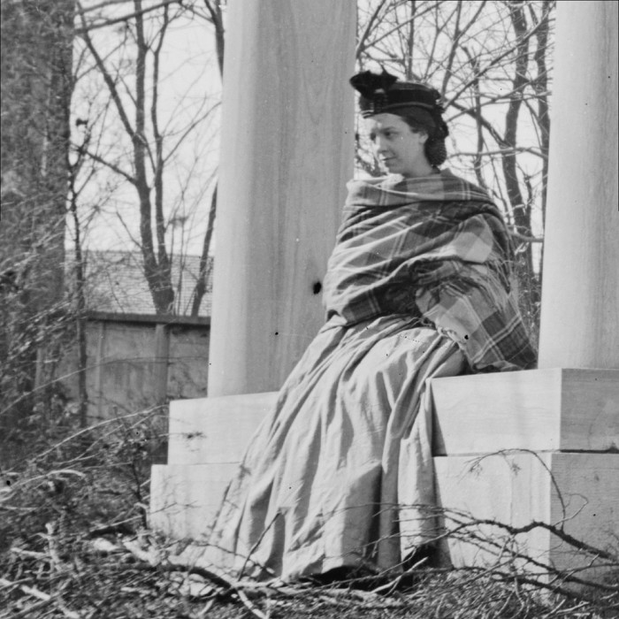 16) In this shot from 1864, a young woman is seen sitting at the tomb of President James K. Polk. His grave was and is located in Nashville, TN - though we can promise it looks a bit different now.