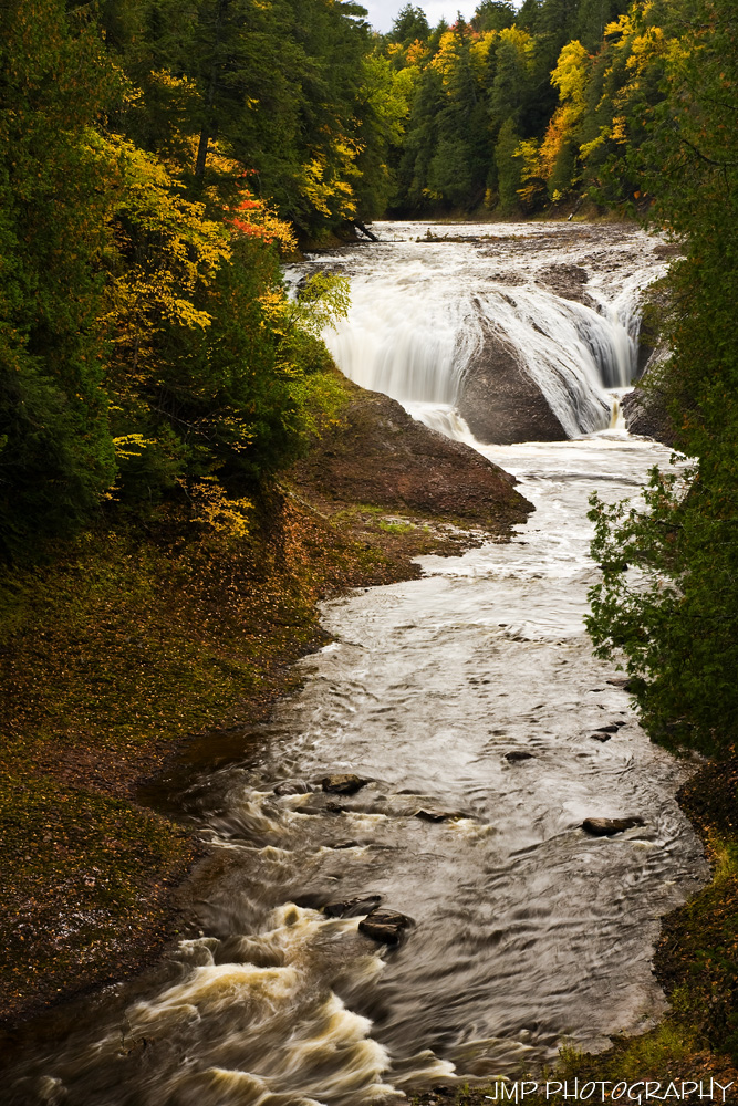 Lower Gabbro Falls Spills Into The Black River Bessemer Michigan Scenic Byway Is In Upper Peninsula Of