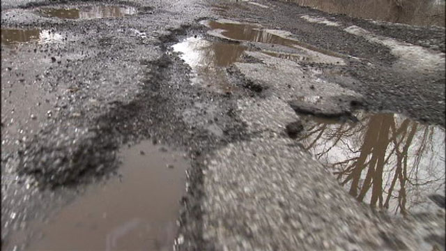 8) When they miss the snow because it fills up the potholes.