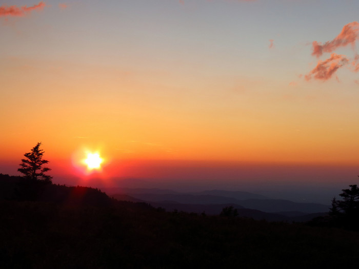 12) This radical view from Round Bald on the border of North Carolina and Tennessee is sure to take your breath away.