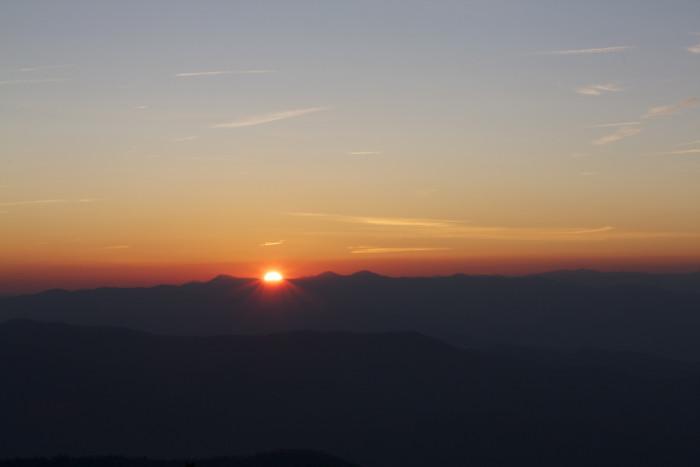 4) A Smokey Mountain Scene