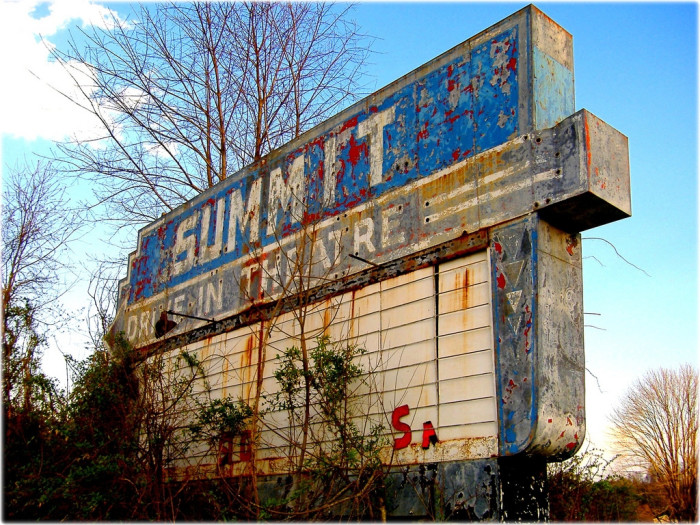 20. Who doesn't remember hot summer nights at the drive-in? Unfortunately, with so few drive-in theaters left, those nights, like this theater near Saltville, are just a memory.