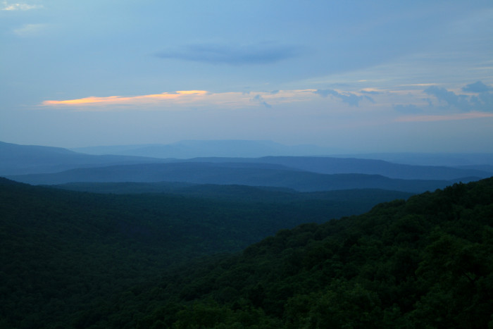 Endless View of Arkansas Mountain from Sunrise Rock.