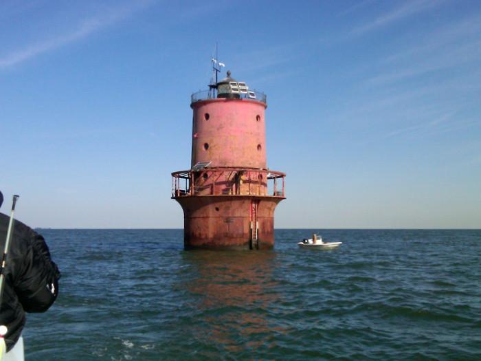 10. Thimble Shoal Lighthouse, Chesapeake Bay