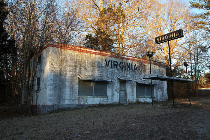 17. The Virginia-Line Gas Station sits in decay just over the North Carolina border near Danville.
