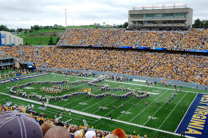 "7) The West Virginia University Marching band is nicknamed the ""Pride of West Virginia."""