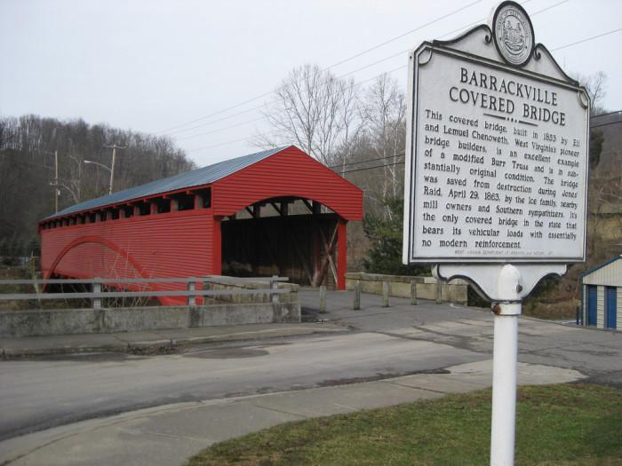 9. The Barrackville Covered Bridge was built in 1853.