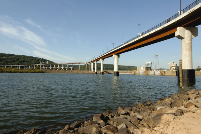 5. The Big Dam Bridge - The longest pedestrian and bicycling bridge in America is one of Little Rock's biggest attractions.