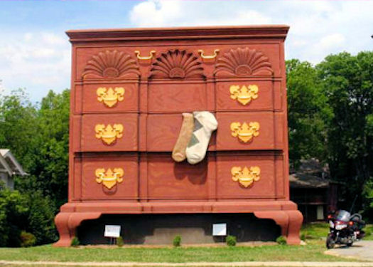 7. Snagged a furniture guru or interior designer? Take them to the giant chest of drawers in High Point.