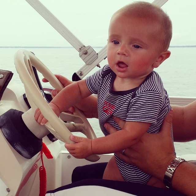18. They learned how to steer a boat at a ridiculously young age.