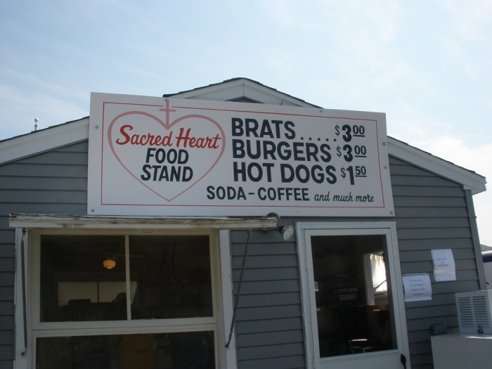 7. Brat stands. Fantastic food for a low price. And typically some of the money goes to charity.