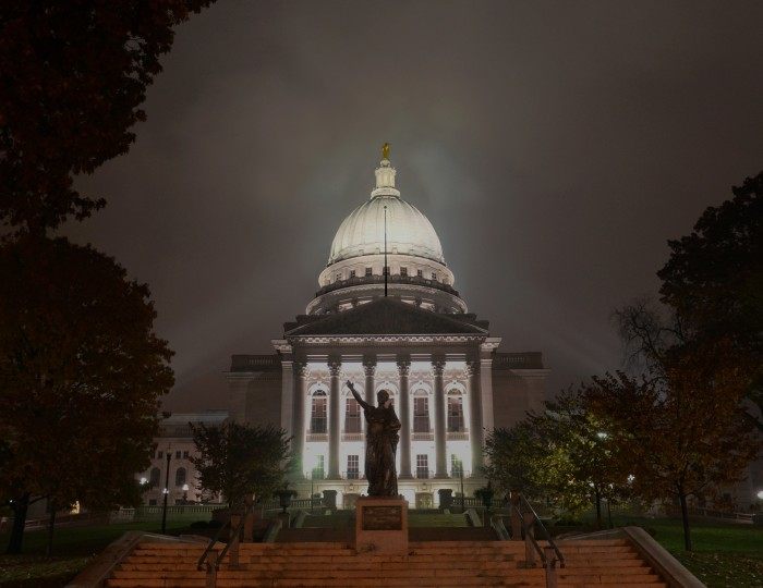 14. Wisconsin's State Capitol (Madison). It is especially stunning in the evening.