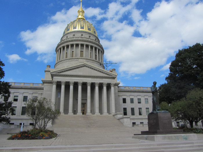 13) The West Virginia State Capitol is located in Charleston, WV.