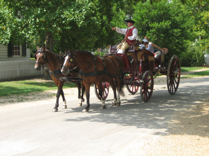 13. Hit the town in style in a horse-drawn carriage.
