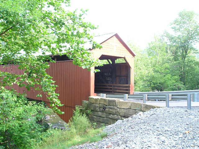 8. The Carrollton Covered Bridge is 141 feet long.