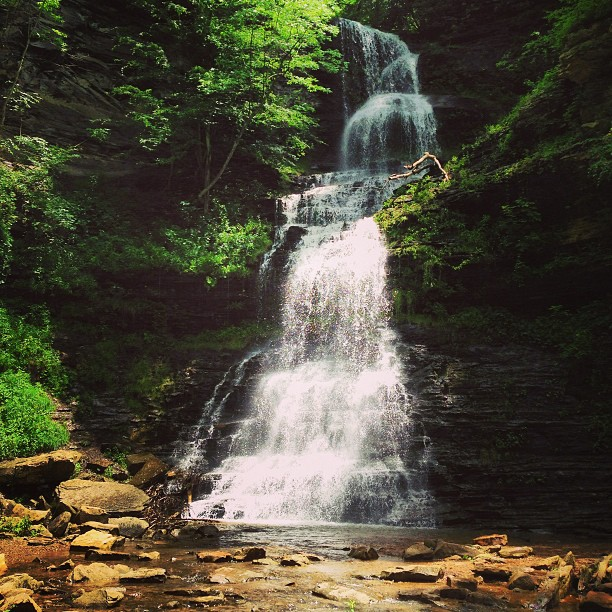 12) Cathedral Falls is located in Gauley Bridge, WV.