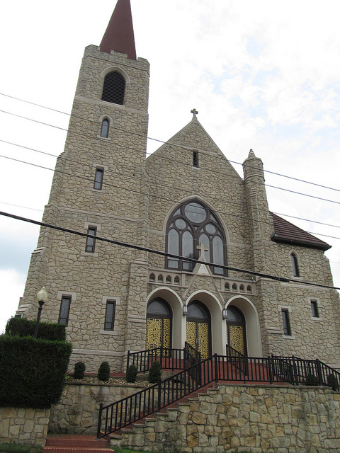 3) The Sacred Heart Church is located in the small town of Chester, WV.