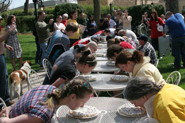 8) Each year, the festival has a Chocolate Mousse Eating Contest!