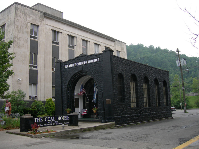2) The Coal House, located in Williamson, WV, is a building made of coal masonry. It was the only of its kind when it was built in 1933, but in 1959 there was a second coal house built in Lewisburg.