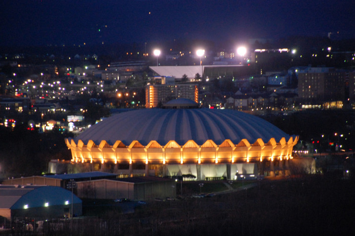 10) The WVU Coliseum was opened in 1970, with a capacity of 14,000.