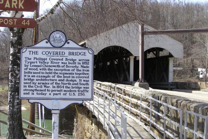 7) Visit one of 17 covered bridges in West Virginia!