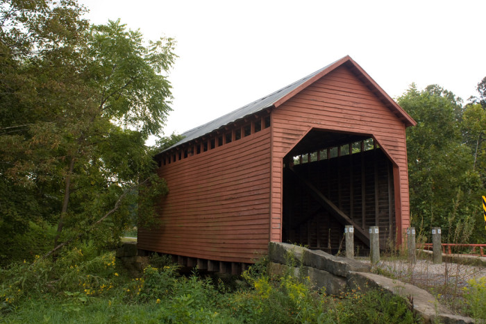 7. The Dents Run Covered Bridge was built in 1889.