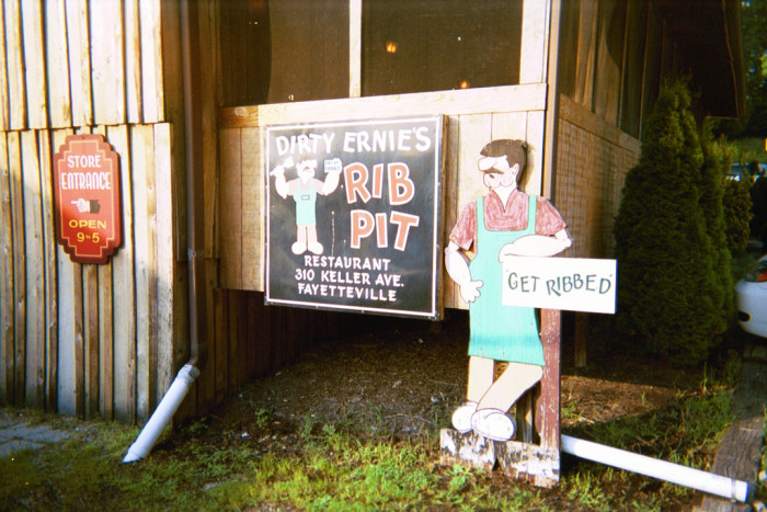 4) Dirty Ernie's Rib Pit is located in Fayetteville, WV.