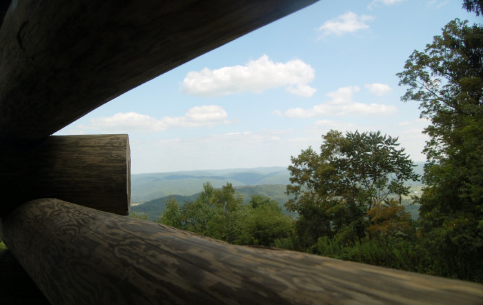 The view from the outlook at the Battle of Droop Mountain.