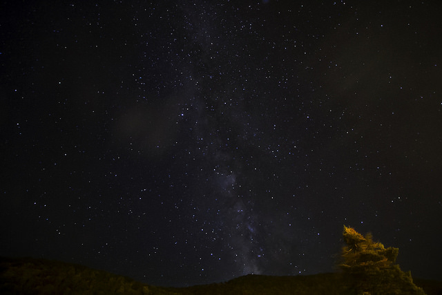 10) The night sky in Durbin, WV, taken from the rail depot.