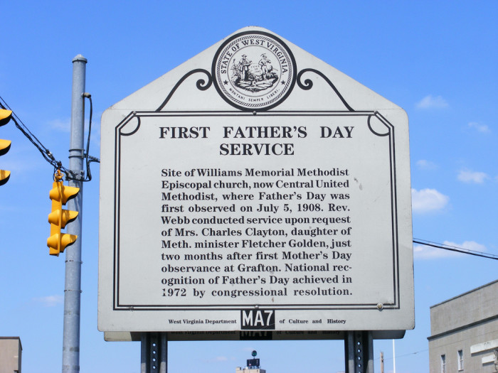 2) The first Father's Day was observed in Fairmont, WV, in the summer of 1908 on July 5.