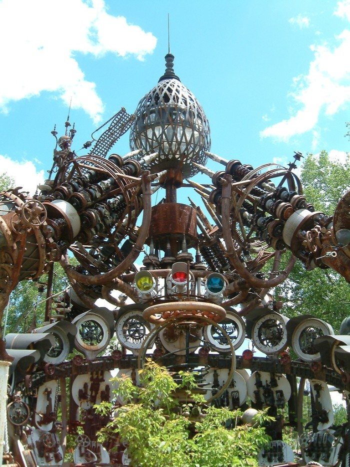 8. Dr. Evermor's Forevertron (North Freedom). This is one of the world's largest scrap metal sculptures.