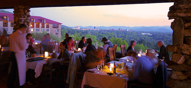 18. Go big or go home with a romantic dinner and a  view at the Sunset Terrace at the Omni Grove Park Inn.
