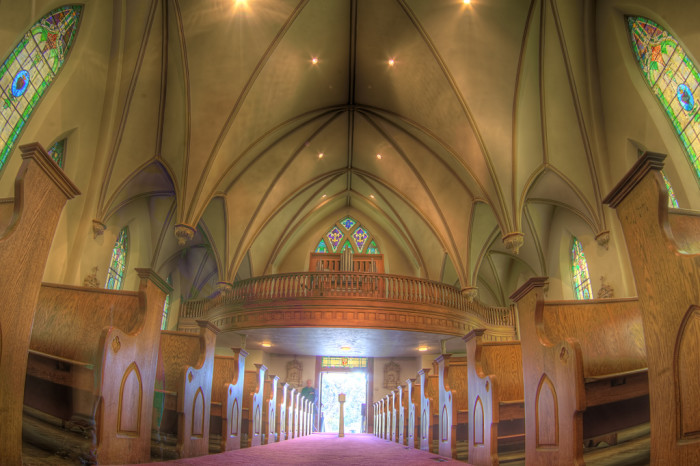 Pictured below is the inside of the beautiful Harpers Ferry church.