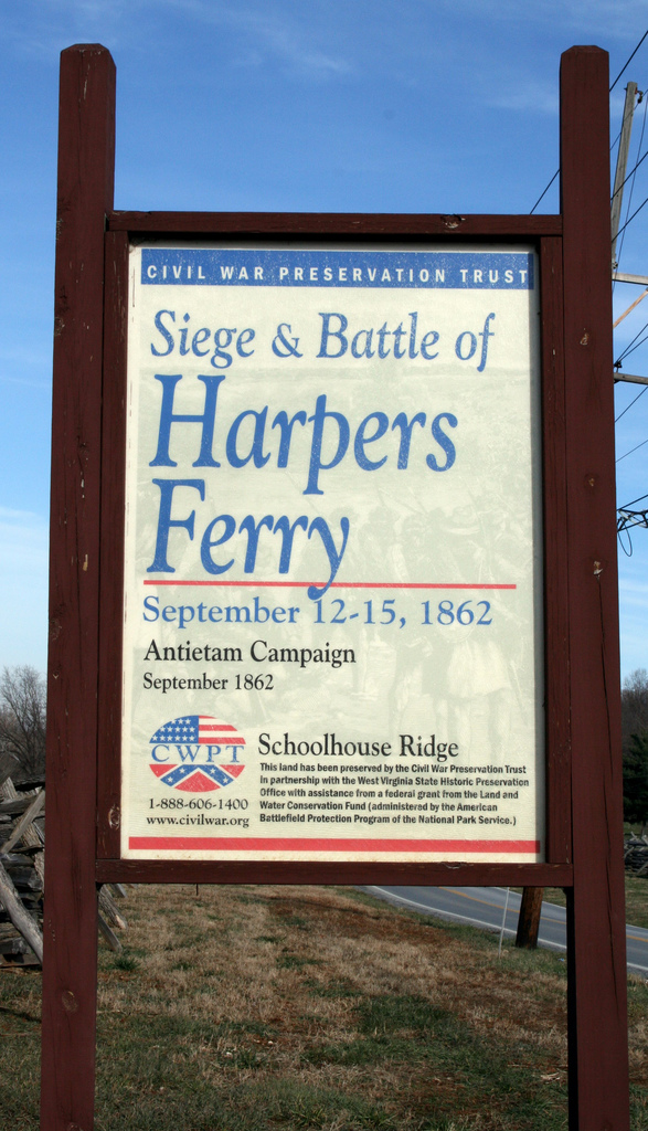 5) The Battle of Harpers Ferry was fought September 12 through September 15 of 1862 at Harpers Ferry, West Virginia.