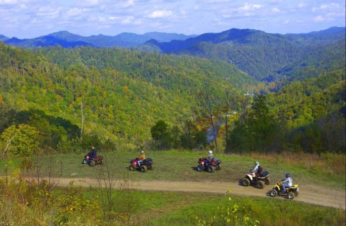 7) The Hatfield-McCoy Trails, which are located in several counties!
