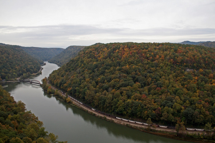 8) Hawk's Nest State Park is in Ansted, WV.