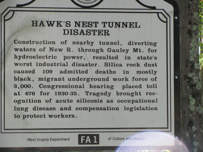1) 1927 Hawks Nest Tunnel Disaster