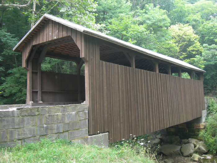 5. The Herns Mill Covered Bridge was built in 1884.