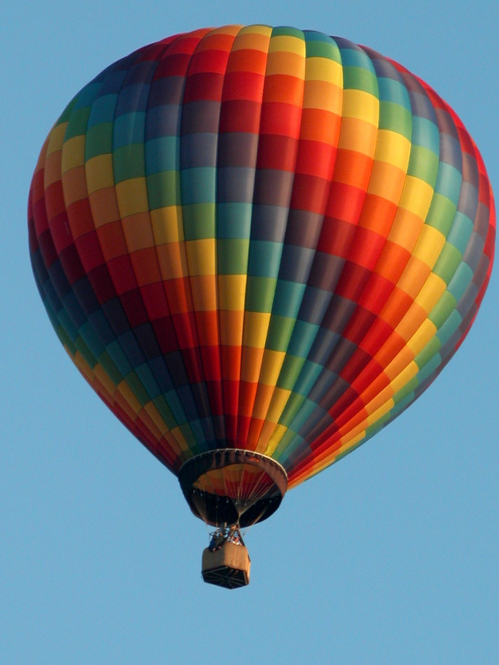 5. See the sites from a  hot air balloon.