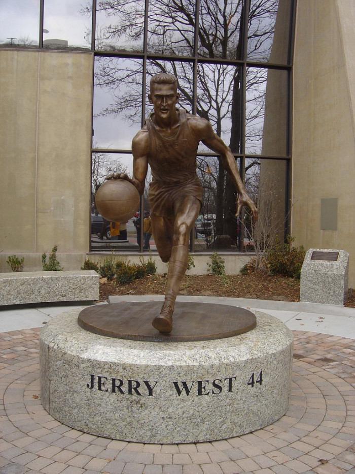 8) Jerry West attended West Virginia University and led the team to the national championship game in 1959.