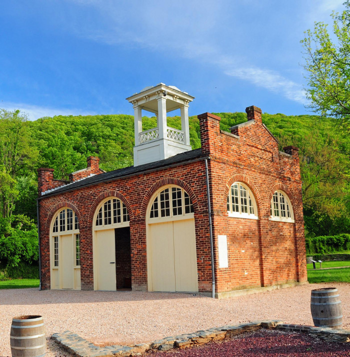 12) John Brown's Fort is located in Harpers Ferry, WV.