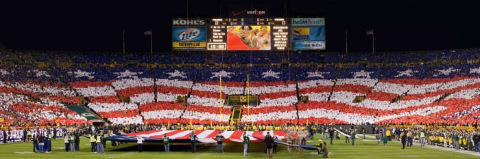 3. Lambeau Field (Green Bay). The energy of the stadium and the game will surely provide the need to celebrate with a kiss.